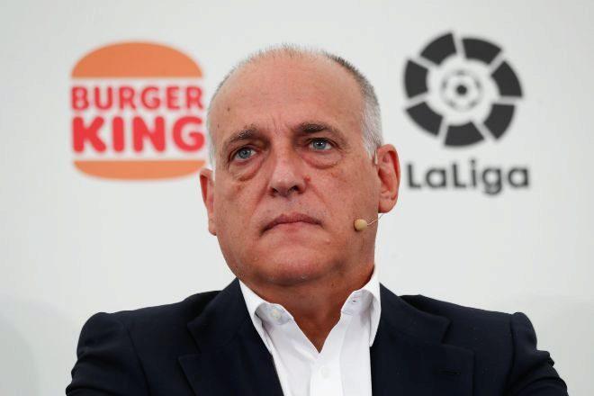 """Tebas:""""El Real Madrid nunca podrá ser el PSG porque el PSG hace trampas en el control económico"""""""