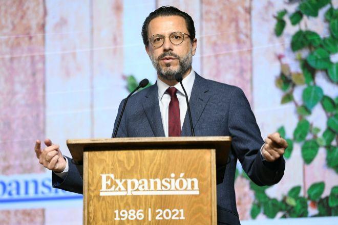 Javier Fernández-Lasquetty, hoy durante el foro Sostenibilidad y digitalización, claves para la reactivación de la economía y el empleo en la Comunidad de Madrid organizado por Expansión en Madrid.