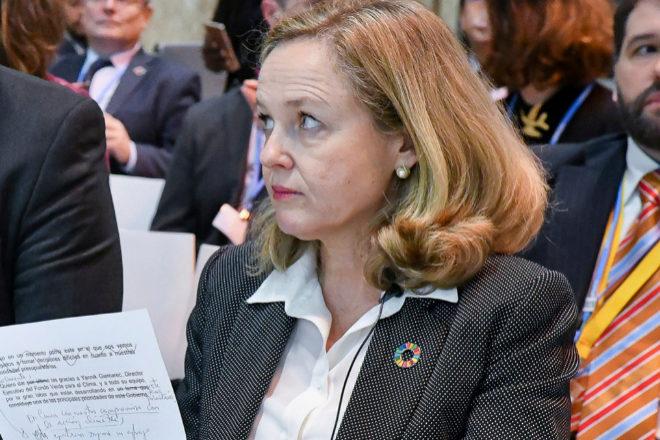 Nadia Calviño, vicepresidenta económica del Gobierno español.