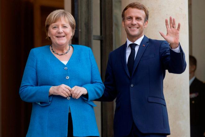 Angela Merkel y Emmanuel Macron mantuvieron ayer su última cumbre antes de la marcha de la canciller.