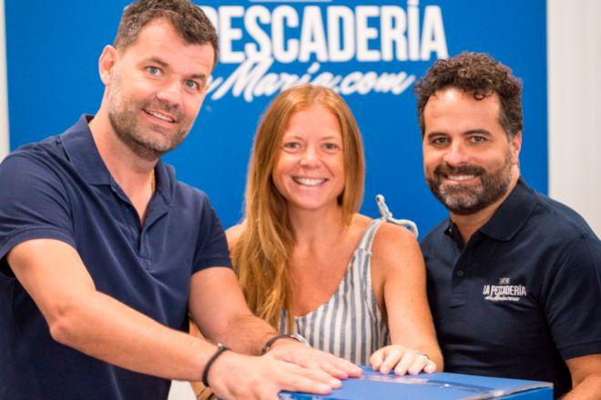 Joan Soler, Susana Prades y Robert Casanovas, impulsores de La Pescadería de María.