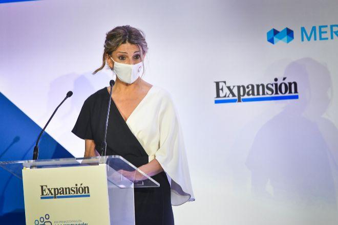 La ministra de Trabajo, Yolanda Díaz, presidió la ceremonia de entrega de galardones de los XVIII Premios Expansión a la Innovación en Recursos Humanos. La ceremonia de este año tendrá lugar el próximo 16 de noviembre.