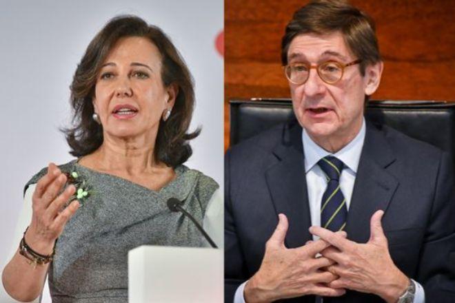 Ana Botín, presidenta de Santander, y José Ignacio Goirigolzarri, presidente de CaixaBank.