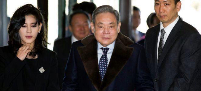 El fallecido presidente del conglomerado Samsung Lee Kun Hee.