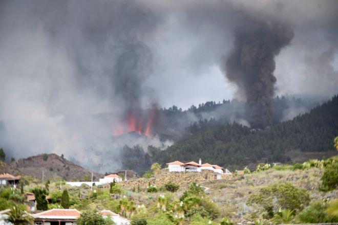 Imagen de la erupción del volcán en Cumbre Vieja.
