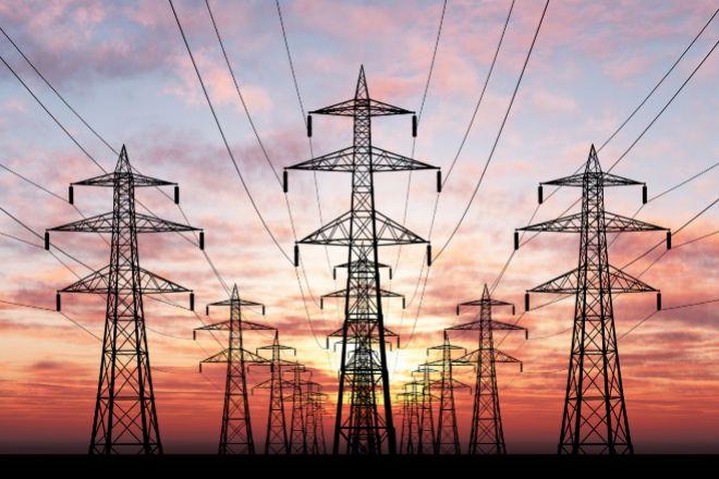 Torretas de electricidad.