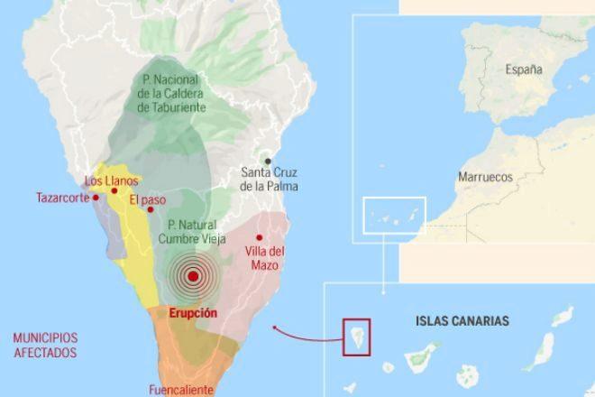 Así es Cumbre Vieja, el volcán de La Palma que ha entrado en erupción