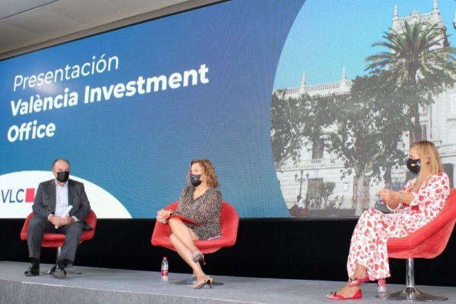 Morata, Bernabé y Blasco, durante la presentación.