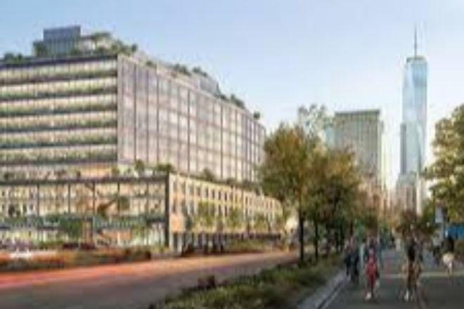 Las oficinas de Google en construcción en la terminal St. John's del bajo Manhattan.