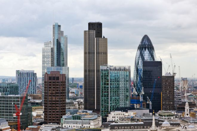 Skyline de la City londinense.