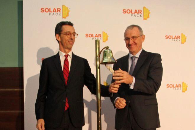 Pablo Burgos, consejero delegado de Solarpack, y José Galíndez, presidente.