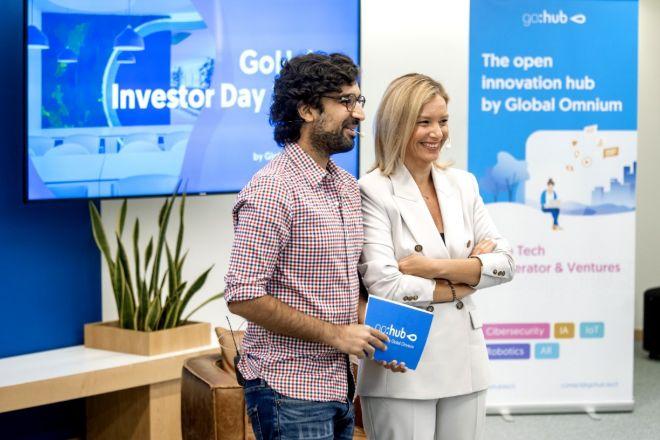 Dhiren Chatlani, Investment Manager de GoHub, y Patricia Pastor, directora general.