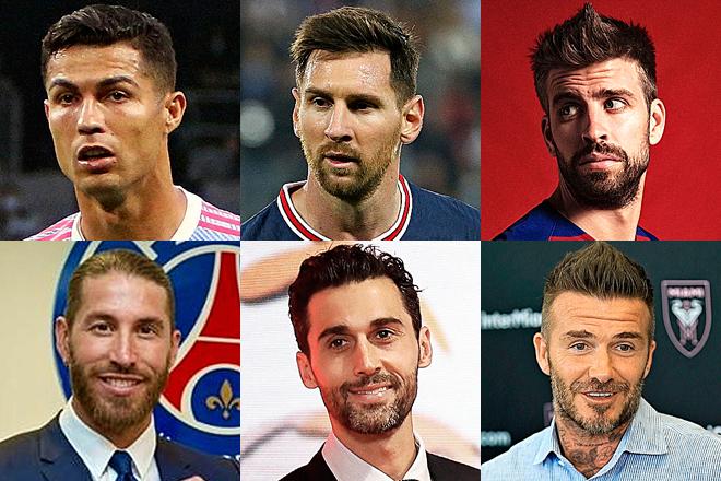 Cristiano Ronaldo, Leo Messi, Gerard Piqué, Sergio Ramos, Arbeloa y David Beckham.