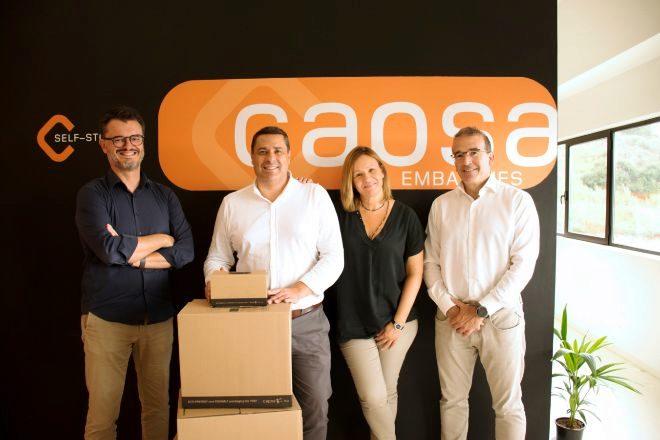 Carles Puente, Manel López, Olga Vidal y Josep Maria Añón, socios de Capsa Packaging.