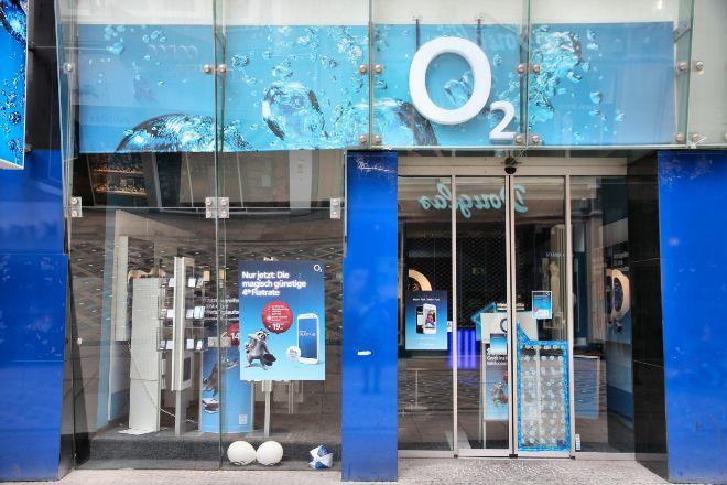 Tienda Telefónica Deutchland en Dormund (Alemania) que opera bajo la marca O2, al igual que en Reino Unido.