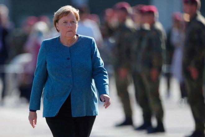 Angela Merkel, quien ha sido canciller durante 16 años, en un acto de esta semana.