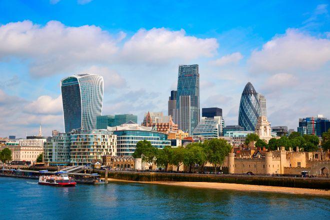 Imagen de la City londinense.