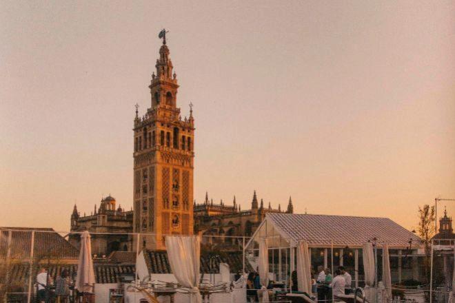 Vista de La Giralda de Sevilla.