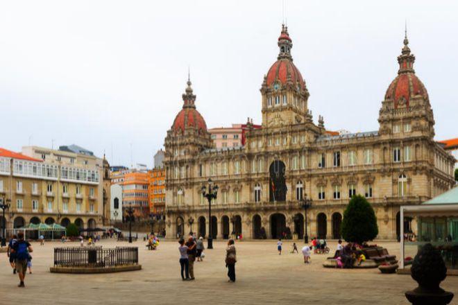 La ?centrica plaza de María Pita, en A Coruña, sede de su Ayuntamiento.