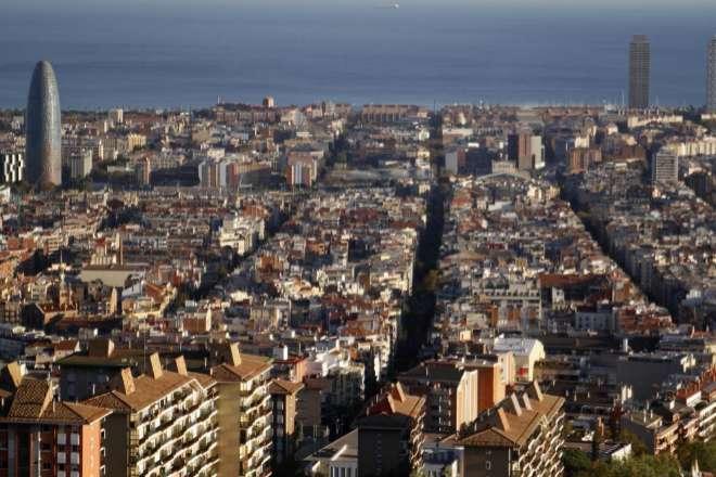 Vista del Eixample de Barcelona.