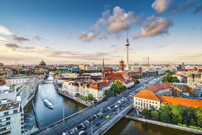 Vista aérea de la ciudad de Berlín.