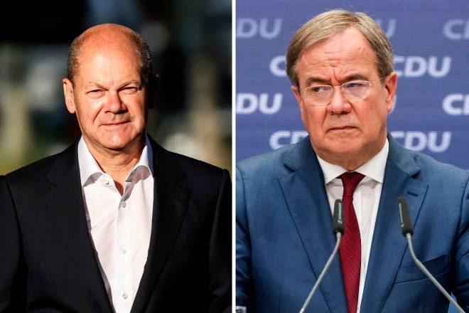 Olaf Scholz (SPD) y Armin Laschet (CDU).