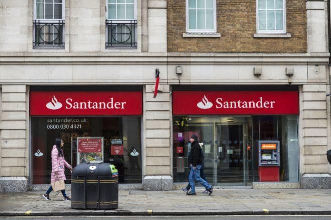 Oficina de Santander en Reino Unido.