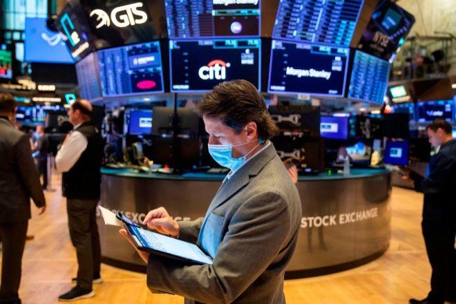 Operadores en la Bolsa de Nueva York.