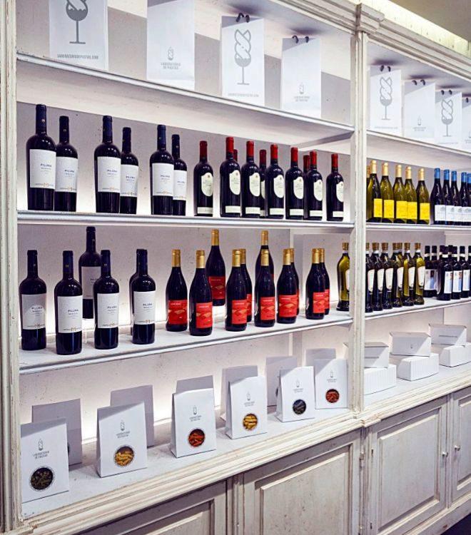 Selección de vinos italianos.