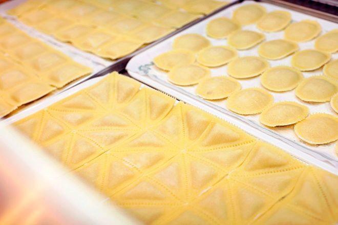 Selección de pastas frescas rellenas.