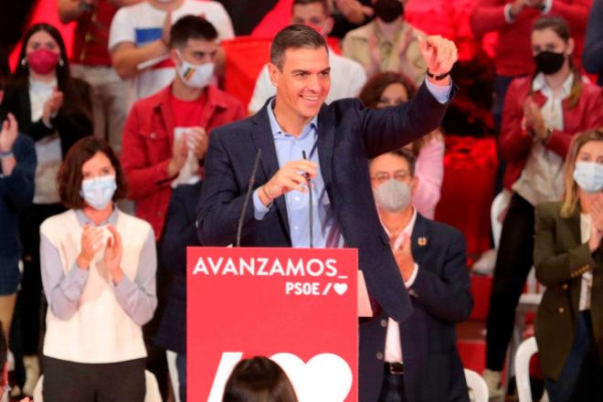 Pedro Sánchez, en un reciente acto del Partido Socialista en Ponferrada (León).