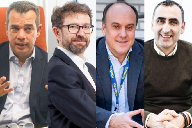 En la imagen, Jacobo Caller, consejero delegado de Food Delivery Brands; Javier Dueñas, consejero delegado de Campofrío en España; David Martínez, consejero delegado de Makro España; y Nurettin Acar, director general de Ikea en España.
