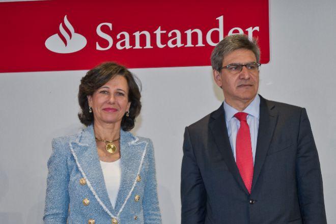 Ana Botín, presidenta de Santander, y José Antonio Álvarez, consejero delegado del grupo.