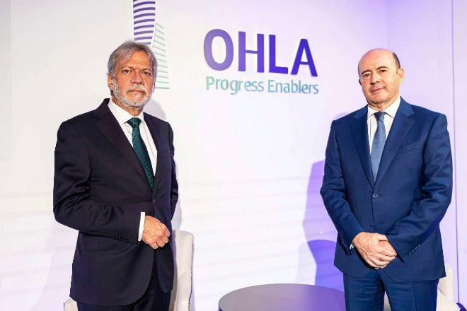Luis Amodio (a la izquierda), presidente de OHLA; y José Antonio Fernández Gallar, CEO de la compañía.