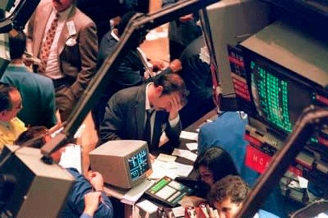 Imagen de archivo del Lunes Negro del 19 de octubre de 1987.