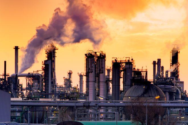 Emisiones de CO2 de la industria.