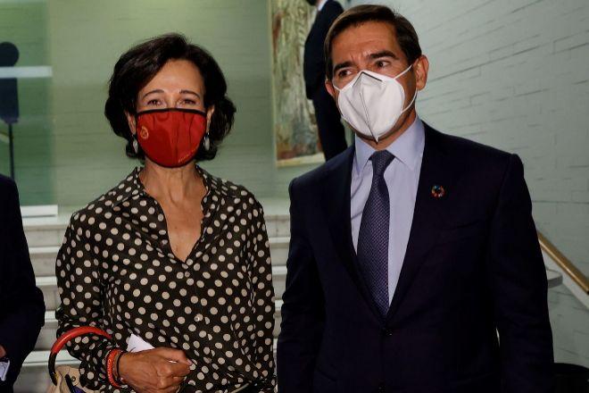 Ana Botín y Carlos Torres.