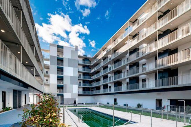 Promoción de vivienda en alquiler en Móstoles (Madrid), ya en comercialización, de Tectum.
