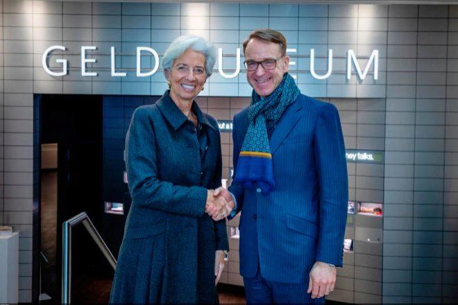 Christine Lagarde y Jens Weidmann.