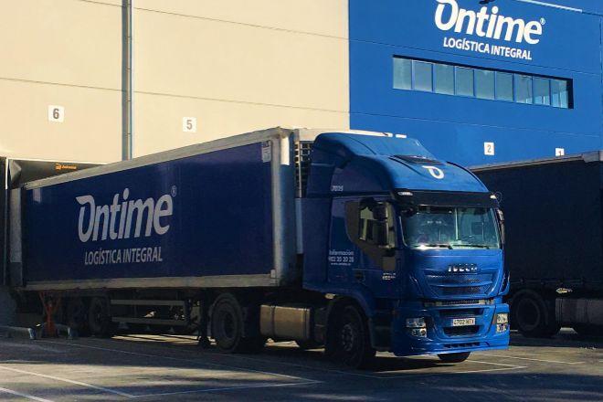 Camión de la flota de Ontime.