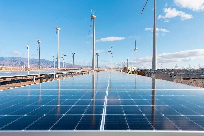 Parque eólico y fotovoltaico en Gran Canaria.