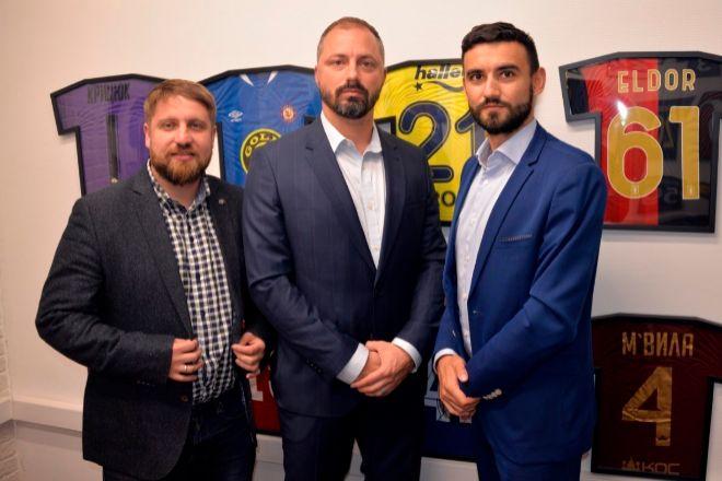 Los socios de Sila International Lawyers Yury Zaytsev y Mikhail Prokopets, junto a Iván Bykovskiy, socio director en Valencia.