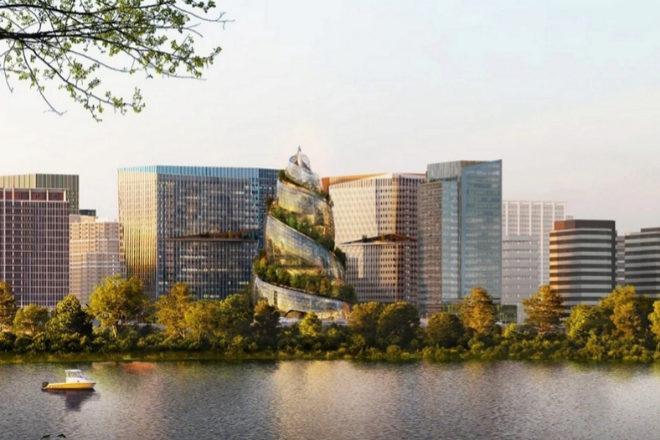 La Hélice es segunda sede central que Amazon quiere empezar a construir el próximo año en Virginia.