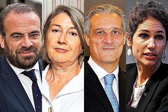 Gabriel Escarrer, vicepresidente y CEO de Meliá; Carmen Riu, consejera delegada de RIU; Raúl González, CEO de EMEA de Barceló; y Sabina Fluxá, CEO y vicepresidenta de Iberostar.