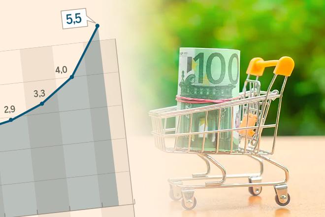 El IPC escala al 5,5% en octubre, la tasa de inflación más alta en 29 años