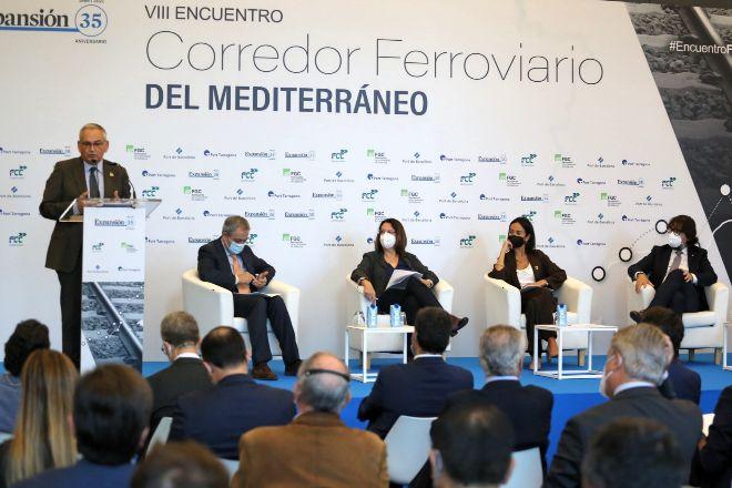 El comisionado del Gobierno para el Corredor Mediterráneo, Josep Vicent Boira, durante su discurso en el acto organizado por EXPANSIÓN.