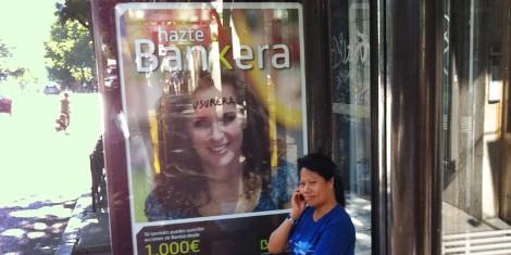 Campaña de Bankia en una marquesina (En ZonaRetiro.com)