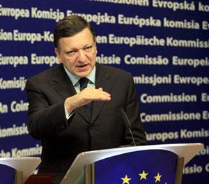 El presidente de la Comisión Europea , José Manuel Durao Barroso