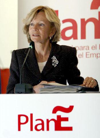 La ministra de Administraciones Públicas, Elena Salgado