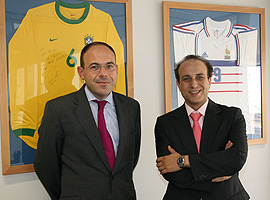 De izq. a dcha., Javier Ferrero y Julio Senn, socios y responsables de Garrigues Sports & Entertainment.